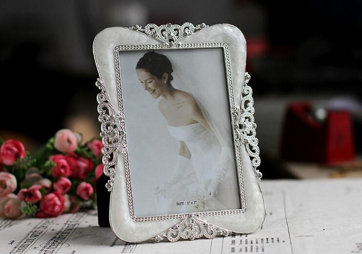 金屬相框婚紗照擺台擺件