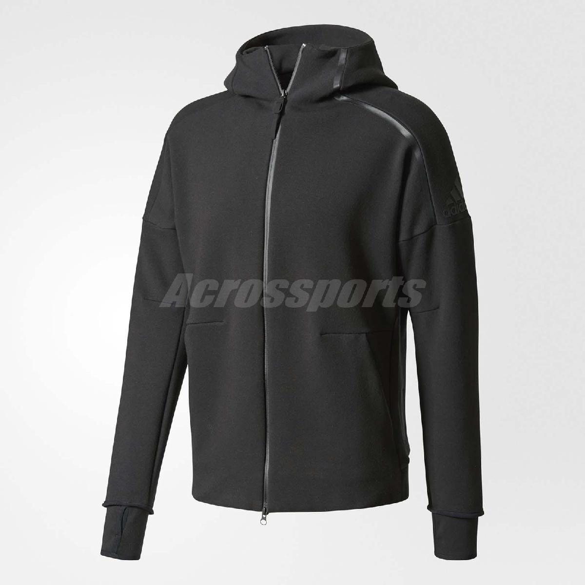 adidas連帽外套Z.N.E.HOODY 2長袖上衣帽踢連帽夾克運動經典基本款男款黑PUMP306 BQ6925