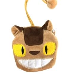 日本龍貓TOTORO貓公車鑰匙包鑰匙圈零錢包吊飾宮崎駿吉卜力里和RIHO