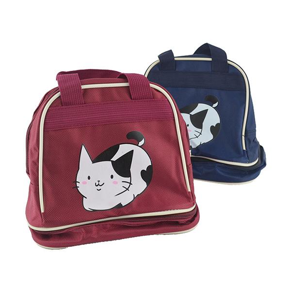 采荷貓咪雙層便當袋餐袋兒童手提袋