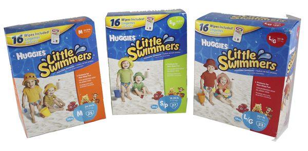 美國進口Huggies S號防水尿布游泳尿褲戲水專用紙尿褲比嬌聯游泳尿布可愛每片42-超級BABY