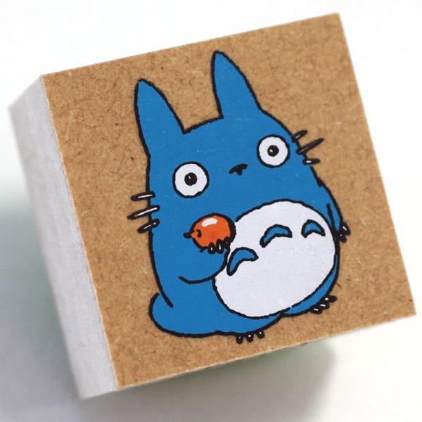 ❤Hamee 日本 吉卜力 宮崎駿 龍貓 TOTORO 豆豆龍 人物造型木製印章(蘋果好吃) 177-121459