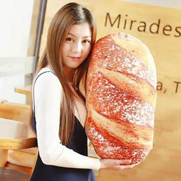 【葉子小舖】法國麵包/可頌造型麵包/荷包蛋/牛角麵包/蝦仁/食物抱枕/毛绒玩具/午睡枕