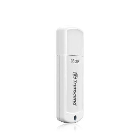 創見USB2.0隨身碟16G白色JF370流線輕巧微重量