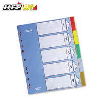 7折 HFPWP 加寬5段塑膠分段紙 環保pp材質 台灣製 IX901W