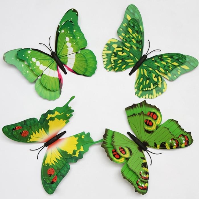 壁貼大號15cm双層蝴蝶3D壁貼綠色蝴蝶想購了超級小物