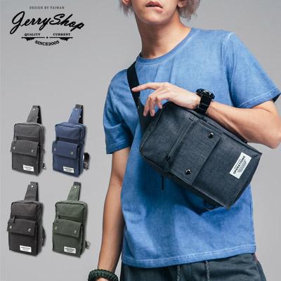 單肩後背包JerryShop XB03014方形立體運動單肩後背包4色bodybag側背包單車包