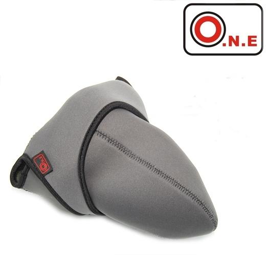 我愛買#O.N.E中潛水布單眼相機包相機內膽包(綠灰)吸震DSLR軟包內裡包相機保護袋保護包相機袋