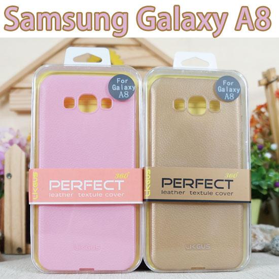 0.7mm三星Samsung Galaxy A8 A800YD A800YZ A800IZ觸感皮革保護殼防護軟殼手機背蓋手機殼外殼TPU