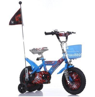 兒童自行車男女孩四輪腳踏車12 14 16 18吋可選藍色蜘蛛俠LG-286851