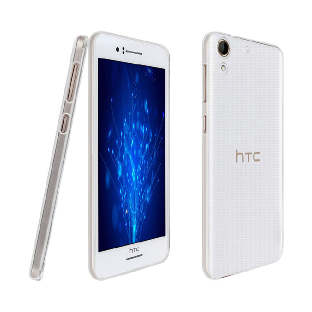 hTC Desire 626晶亮透明TPU高質感軟式手機殼保護套光學紋理設計防指紋