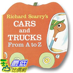 [106美國直購] 2017美國暢銷兒童書 Richard Scarry s Cars and Trucks from A to Z (A Chunky Book(R))