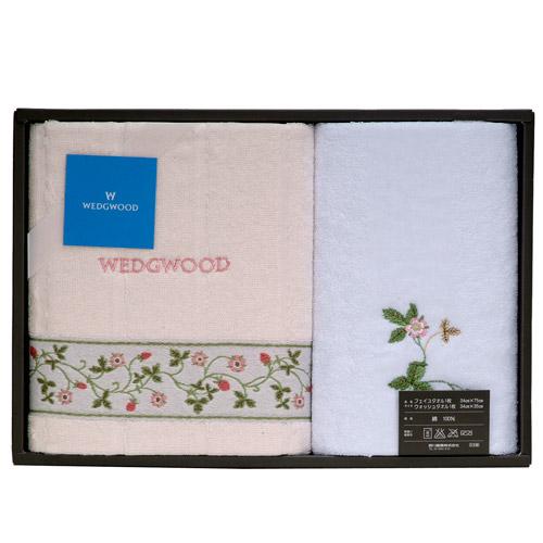 WEDGWOOD繽紛田園野莓毛巾方巾禮盒(粉)081533-1