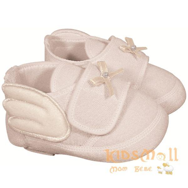 日本製Angel Dept超可愛天使造型嬰兒鞋-白