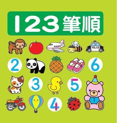 【人類文化】人類『123筆順 』示範阿拉伯數字筆畫順序,讓幼兒看筆順學寫數字_只賣99元