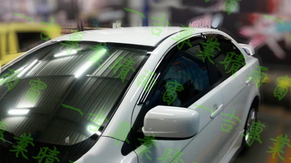 【一吉】07-16年 Lancer Fortis /io 鍍鉻飾條款 晴雨窗/台灣製 / fortis晴雨窗,fortis 晴雨窗,io晴雨窗