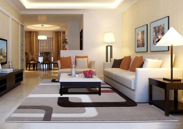 現代客廳地毯沙發茶幾地毯臥室床邊辦公室門口大小地墊4071