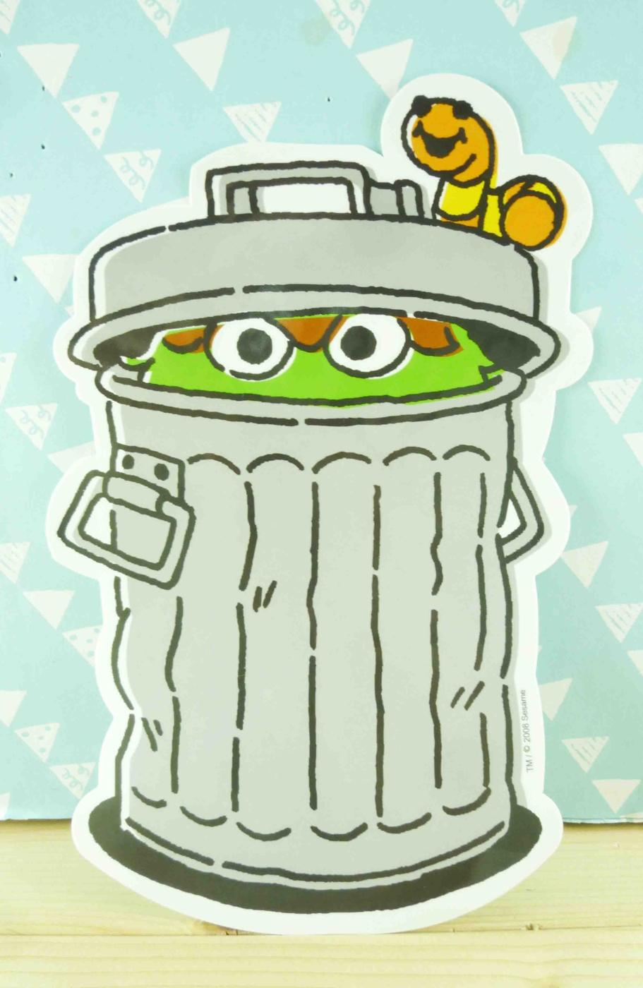 【震撼精品百貨】Sesame Street_芝麻街~造型貼紙-綠身朵