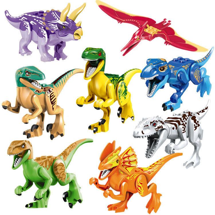 樂高積木兼容樂高拼裝積木侏羅紀世界恐龍系列暴龍兒童益智玩具樂享旗艦店