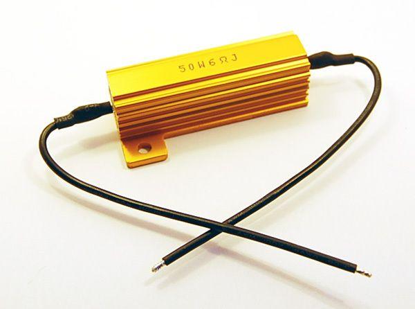 LED防快閃專用黃金鋁殼電阻50瓦6歐姆適合裝汽車方向燈非繼電器閃光器閃爍器