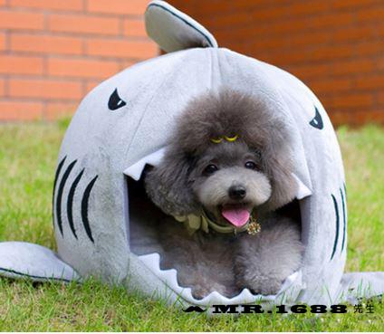 寵物窩鯊魚嘴造型狗窩貓窩 寵物四季窩小型犬 中型犬【Mr.1688先生】