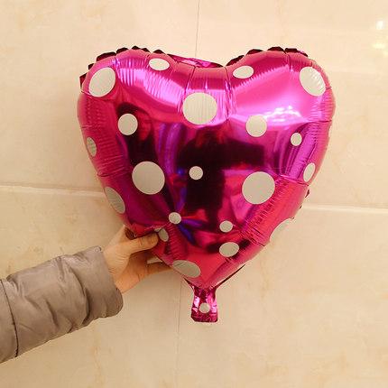 結婚生日派對婚房布置鋁箔心形氣球浪漫鋁膜氣球愛心裝飾布置用品(18吋)─預購CH756