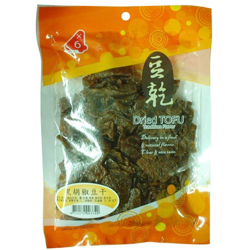 四乘六黑胡椒豆干250g【愛買】