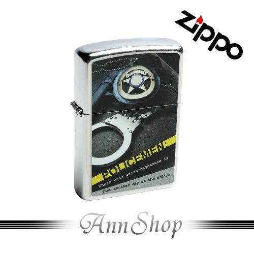 【ZIPPO‧Policemen打火機】手銬圖案彩印加工防風防水打火機禮品