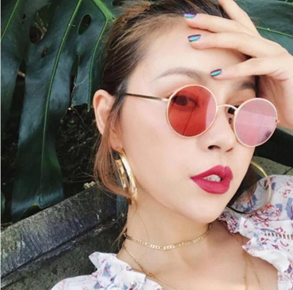 2017吳亦凡同款墨鏡 新款圓型太陽眼鏡 潮流款太子鏡 阿拉蕾圓框眼鏡 抗UV400 Look here配件館