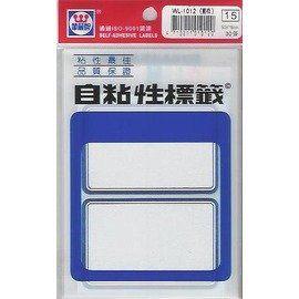 華麗牌 WL-1012(藍框)自粘性標籤(50x75mm) 30張/包
