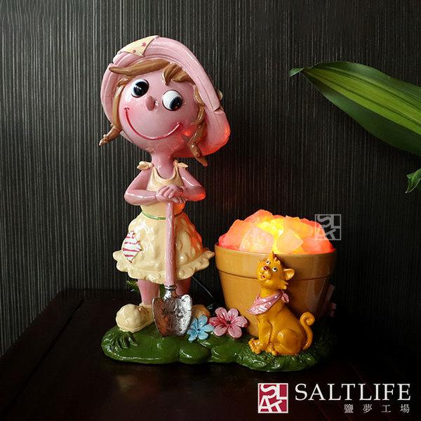 【鹽夢工場】創意造型鹽燈-陶瓷少女