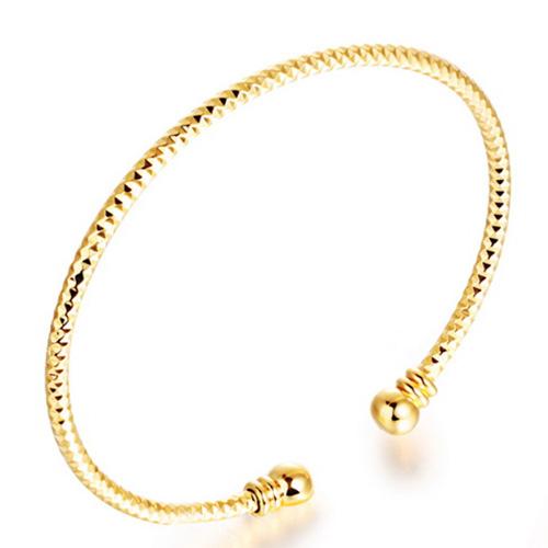 《 QBOX 》FASHION 飾品【W100N400】 精緻時尚開口圈套鍍18K金手鍊/手環