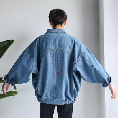 牛仔外套-翻領日系復古寬鬆率性男丹寧夾克3色73pc48巴黎精品