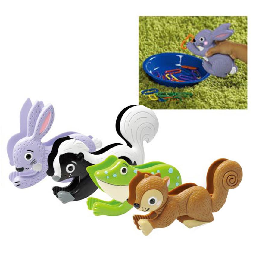 小動物夾子組兒童幼兒教具教學道具設備感官感覺統合訓練運動平衡手眼協調遊戲