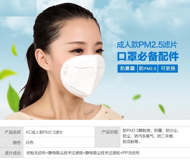 韓國時尚情侶防霧霾口罩專用濾片 成人無呼吸閥專用濾片  12片
