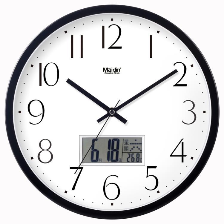 超豐國際靜音老年大鐘表掛鐘客廳臥室時尚數字大掛表現代時鐘1入