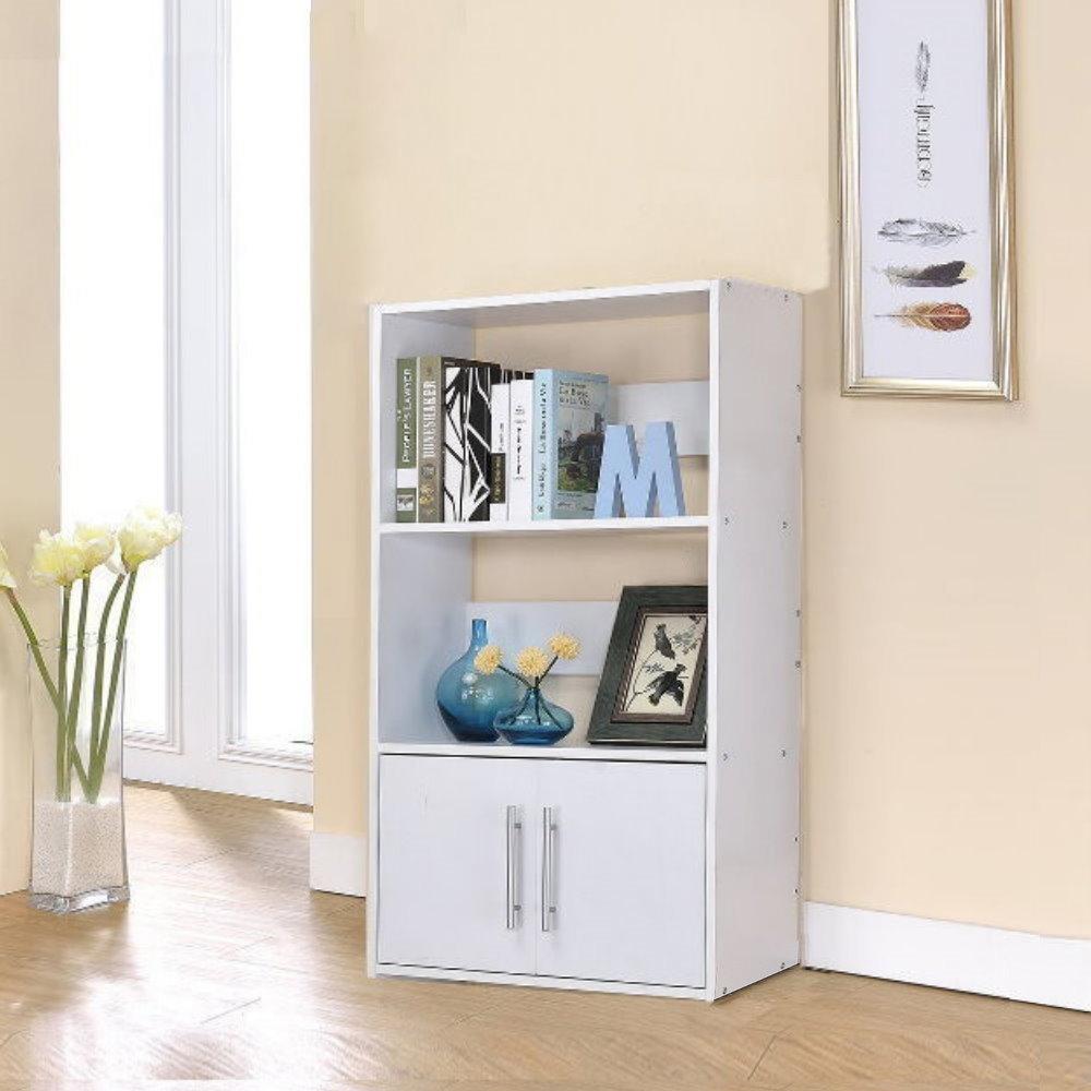 品味玩家-三層雙門展示架 雙面隔間櫃 書櫃