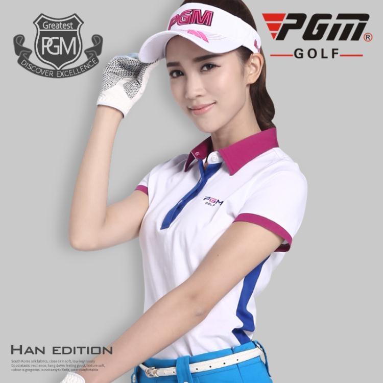 食尚玩家高爾夫女士服裝短袖T恤冰涼透氣修身顯腰超薄速干