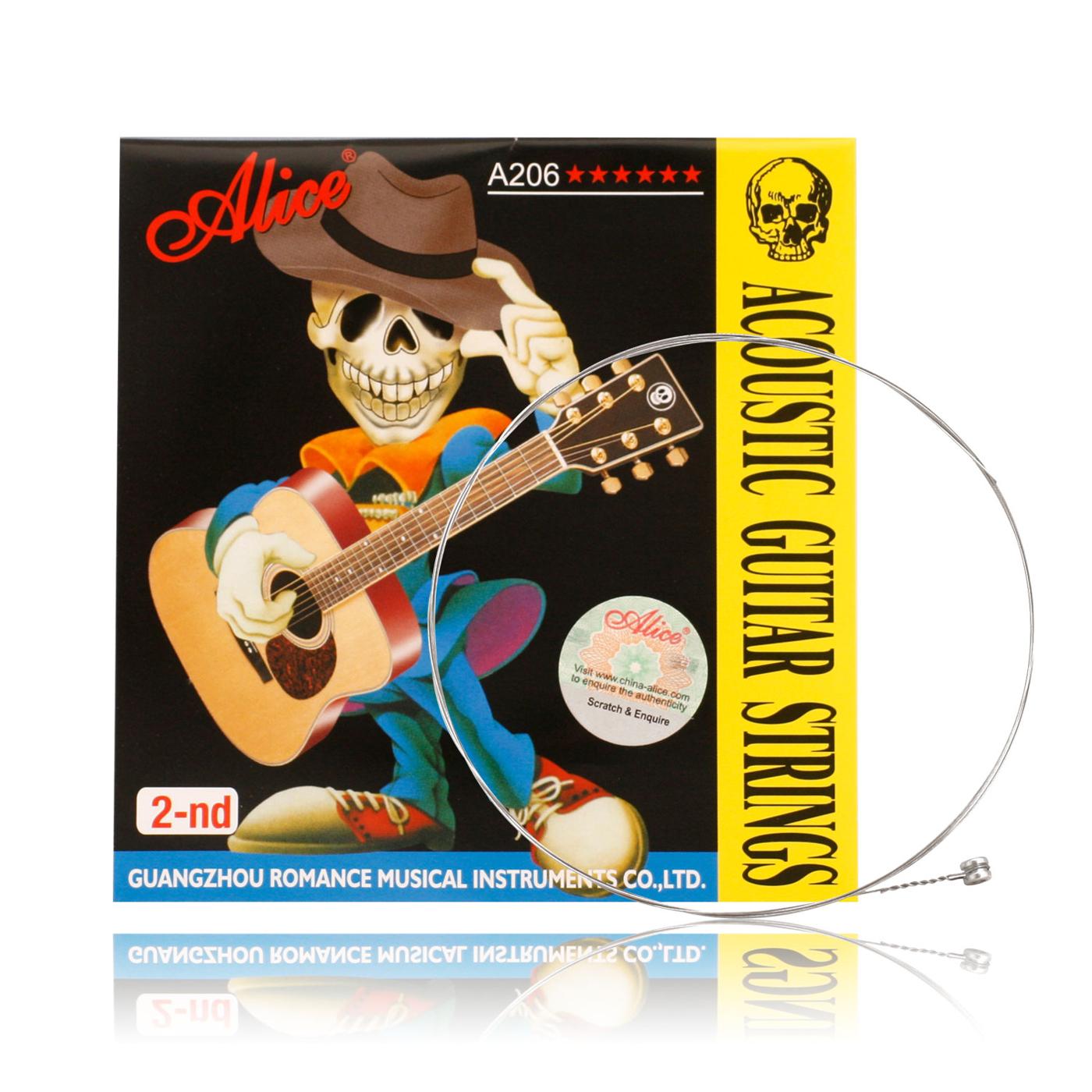 小叮噹的店- 木吉他弦 第二弦/B弦 (買5送1)ALICE A206-2 民謠吉他