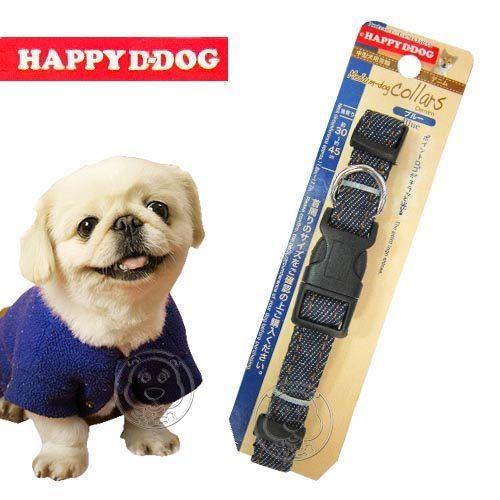 【zoo寵物商城】《HAPPY DOG》中型犬用項圈-牛仔風(M)頸圍30~45CM