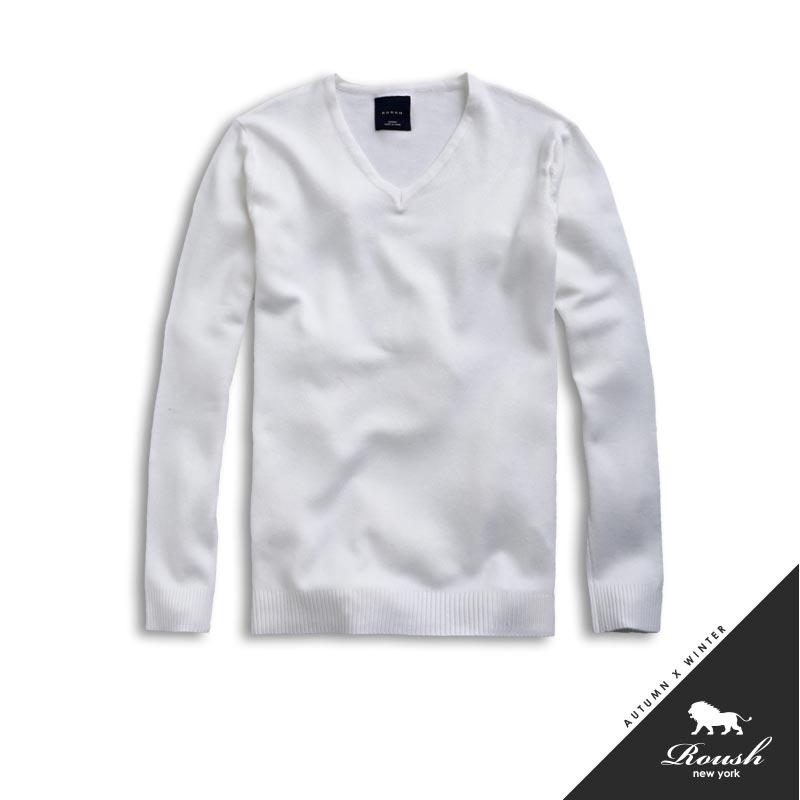 【Roush】(Slim Fit) 基本款V領針織衫 - 【51080】