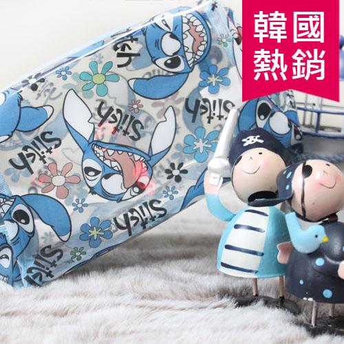 迪士尼防水透明袋中化妝包卡通人物米老鼠米奇玩具總動員雄抱哥小熊維尼史迪奇