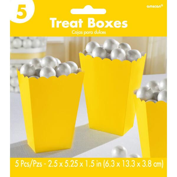 5.25吋爆米花盒5入-日光黃