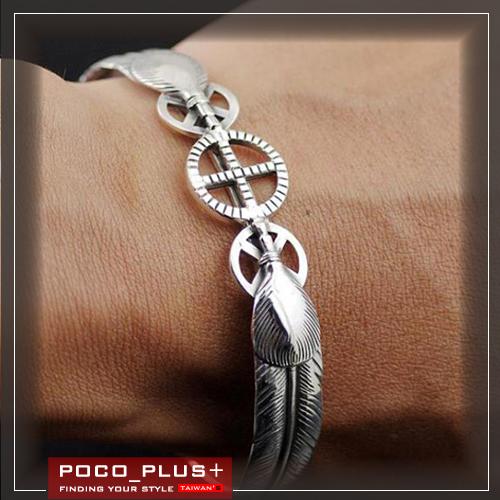 PocoPlus韓系手工老鷹羽毛設計手鐲時尚個性飾品手鍊AC003