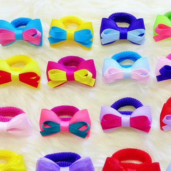 髮飾 糖果色蝴蝶結毛巾髮圈 16款  兒童髮圈《寶寶熊童裝屋》