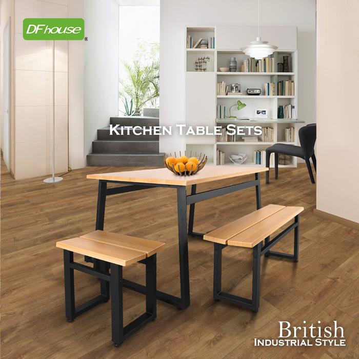 DFhouse英式工業風-餐桌雙人餐椅單人餐椅庭院咖啡桌工作桌商業空間設計工業風