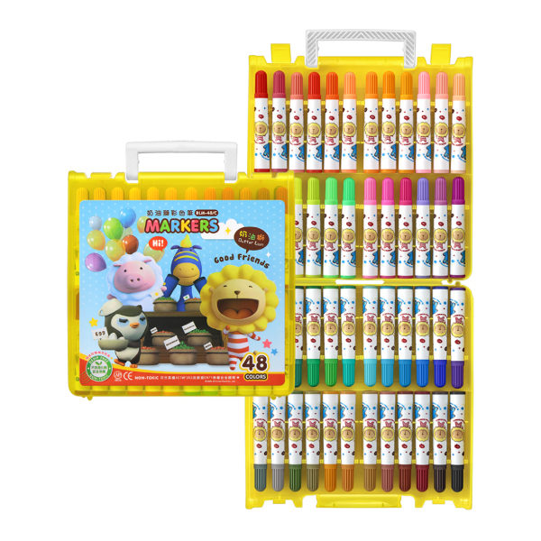 雄獅奶油獅48色彩色筆B盒-閃亮亮