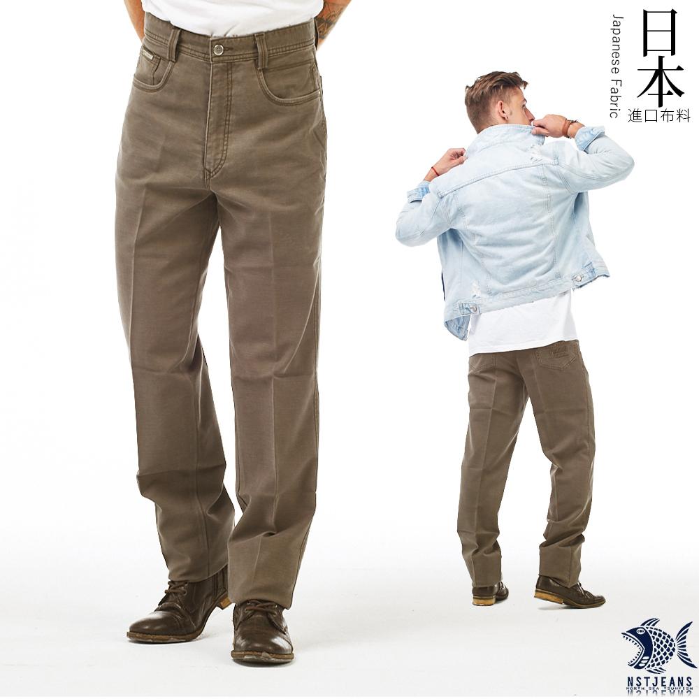 [即將斷貨] NST Jeans 日本布料_秋日大地色 冷杉褐 直筒休閒褲(中腰) 390(5623) 台製 紳士 男