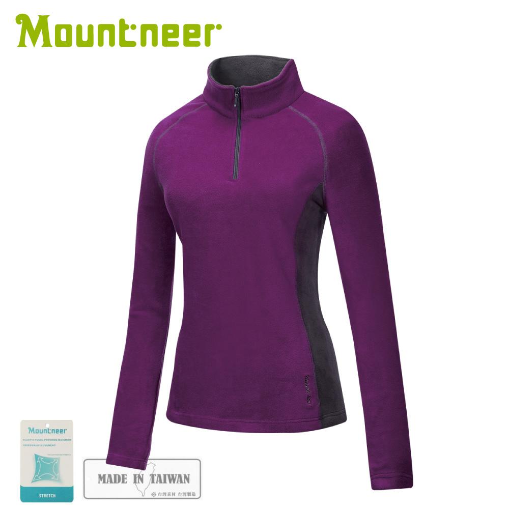 【Mountneer 山林 女刷毛保暖上衣《紫羅蘭》】32F06/保暖長袖/保暖中層