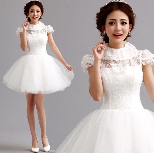俏魔女美人館冬季新款伴娘短款禮服公主小禮服